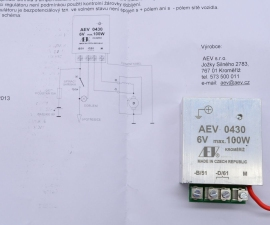 Regulátor 6V 100W AEW +pol