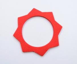 Filc pod víčko nádrže - červený