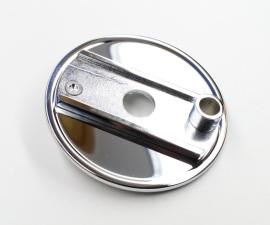 Štít zadnej brzdy ČZ 125C,150C kompletný - chrom