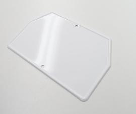 Zadná ŠPZ malá - biela 140x100 bez žliabku