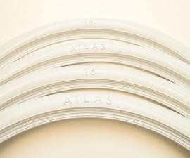 Biele lemy pneumatik Atlas 16